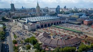 Веерное депо в ансамбле Казанского вокзала. г. Москва
