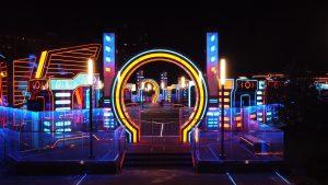 Фестивальная площадка в стиле TRON