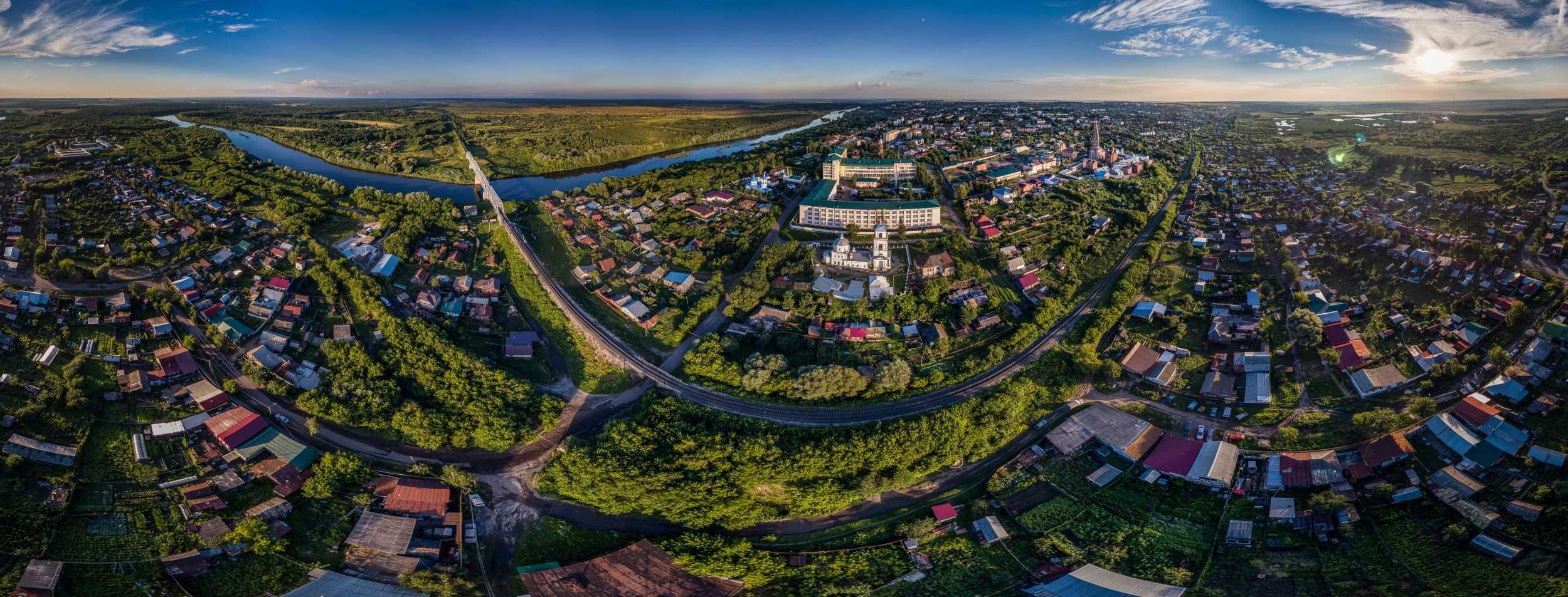 Панорама города Алатырь